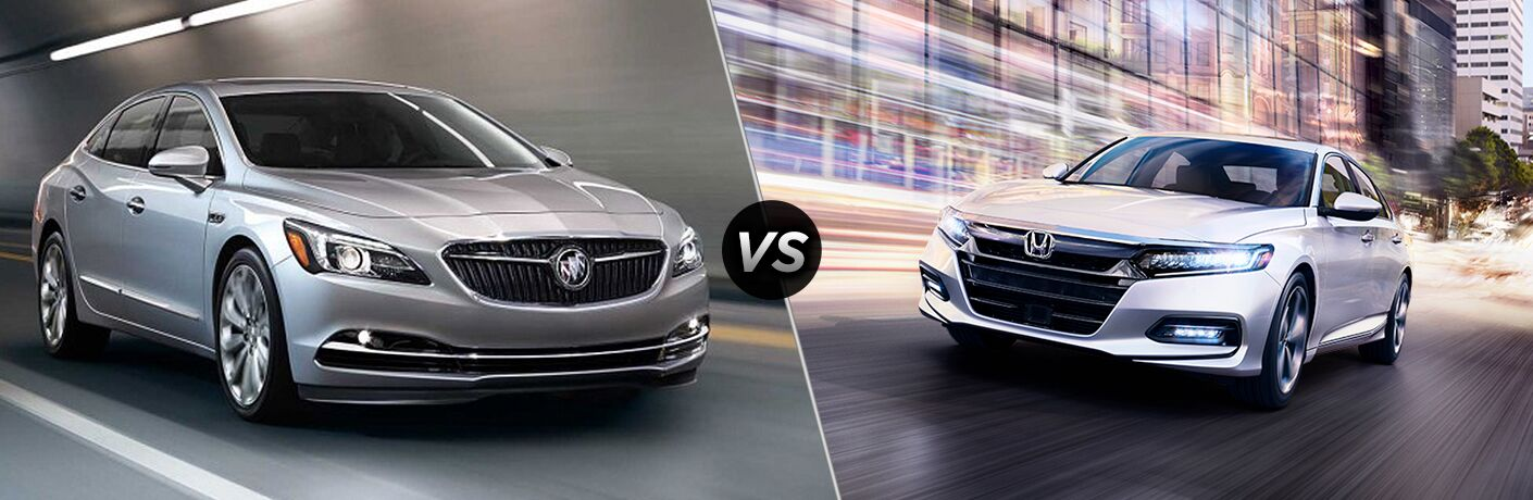 A side-by-side comparison of the 2018 Buick LaCrosse vs. 2018 Honda Accord