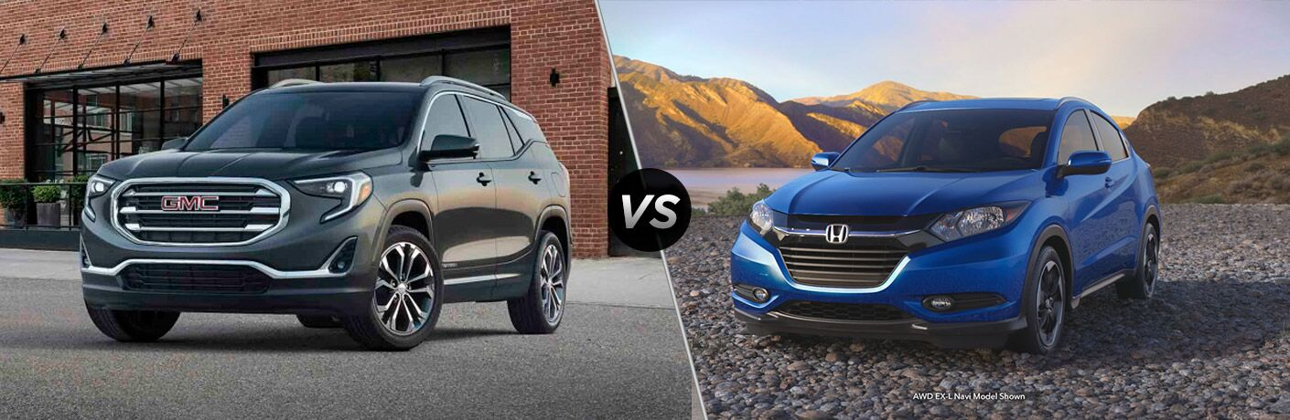 A side-by-side comparison of the 2018 GMC Terrain vs. 2018 Honda HR-V
