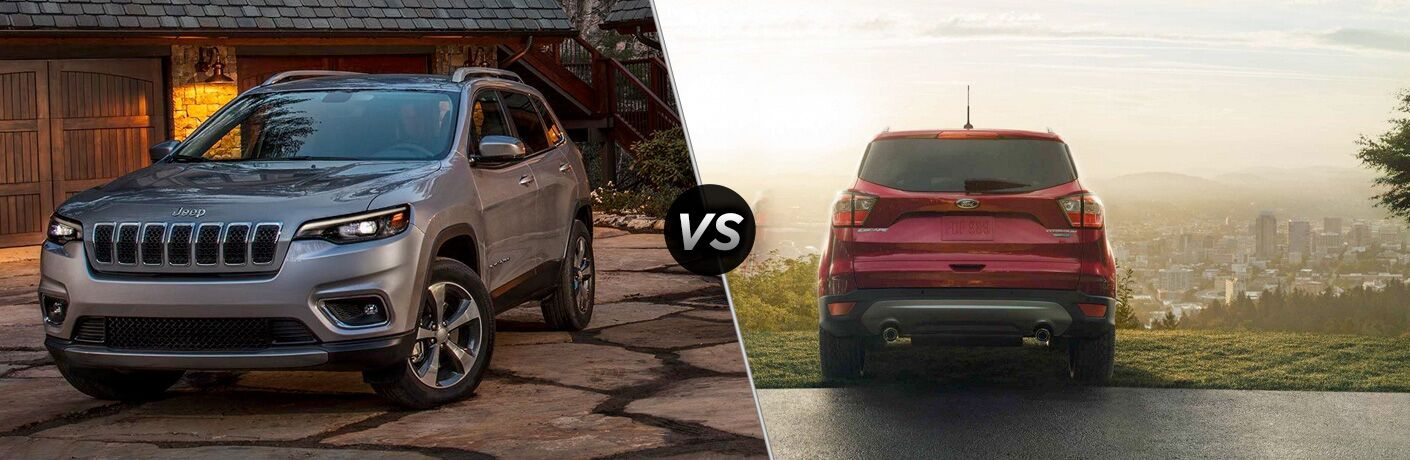 A side-by-side comparison of the 2019 Jeep Cherokee vs. 2019 Ford Escape.