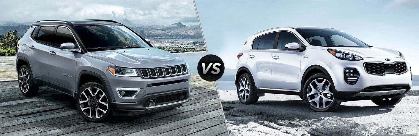 A side-by-side comparison of the 2019 Jeep Compass vs. 2019 Kia Sportage.