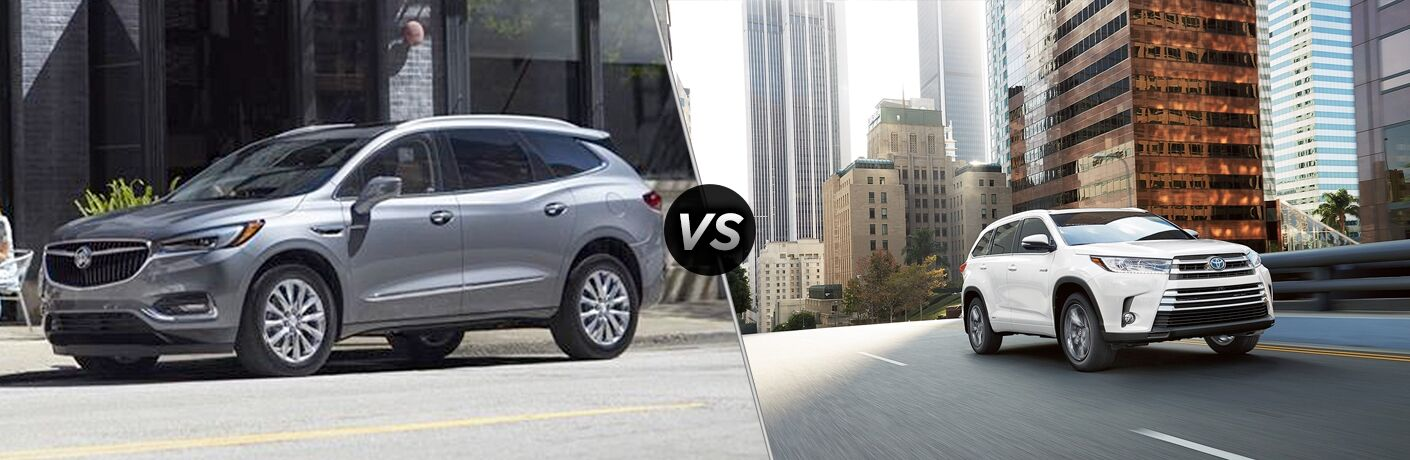 Another side-by-side comparison of the 2019 Buick Enclave vs. 2019 Toyota Highlander.