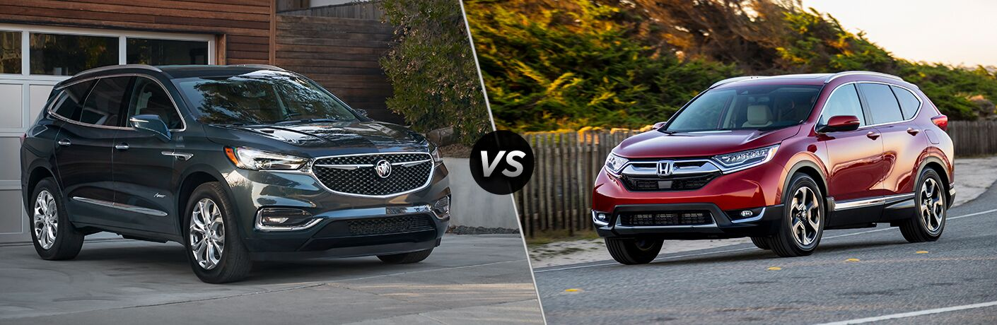 A side-by-side comparison of the 2019 Buick Enlcave vs. 2018 Honda CR-V.