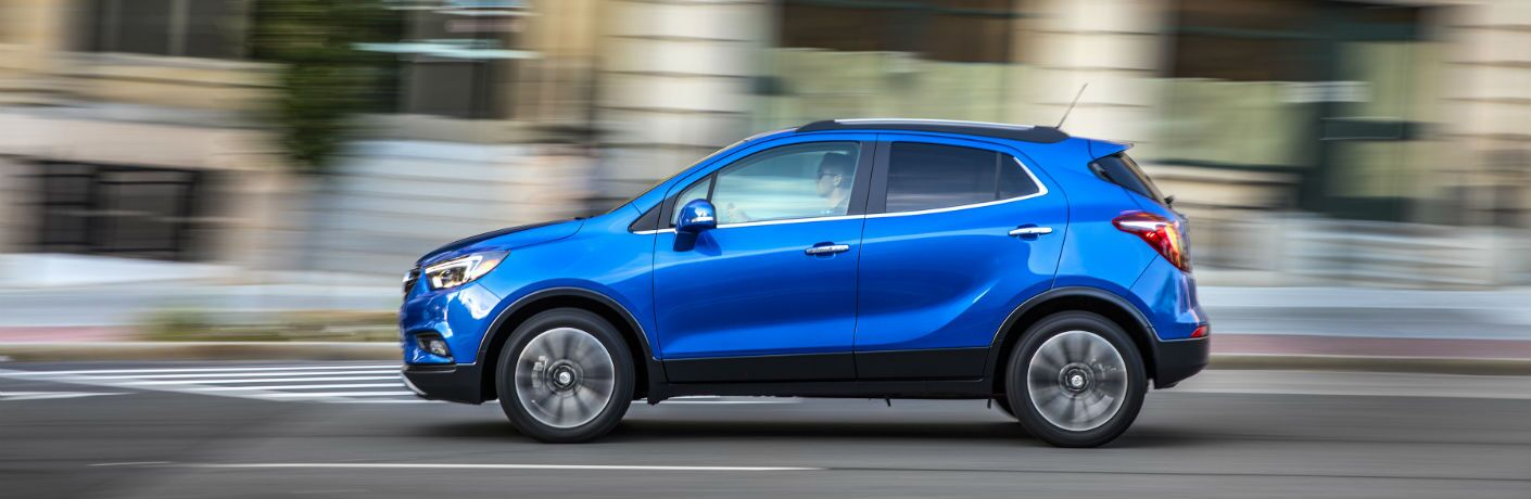 A left profile photo of the 2019 Buick Encore.