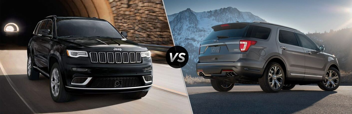 A side-by-side comparison of the 2019 Jeep Grand Cherokee vs. 2019 Ford Explorer.