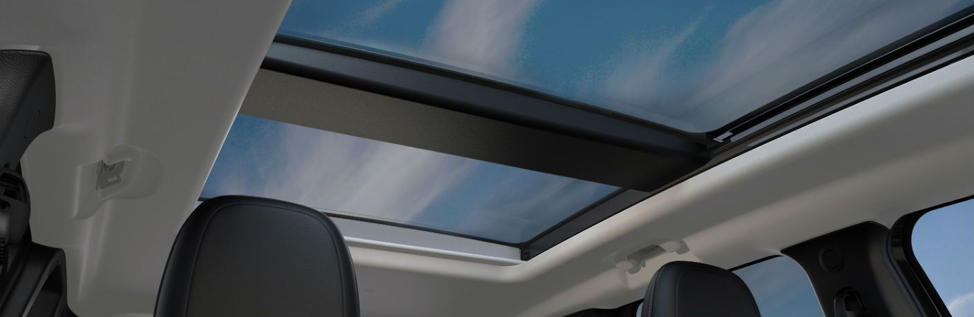 A photo of the sunroof in the 2019 Jeep Renegade.