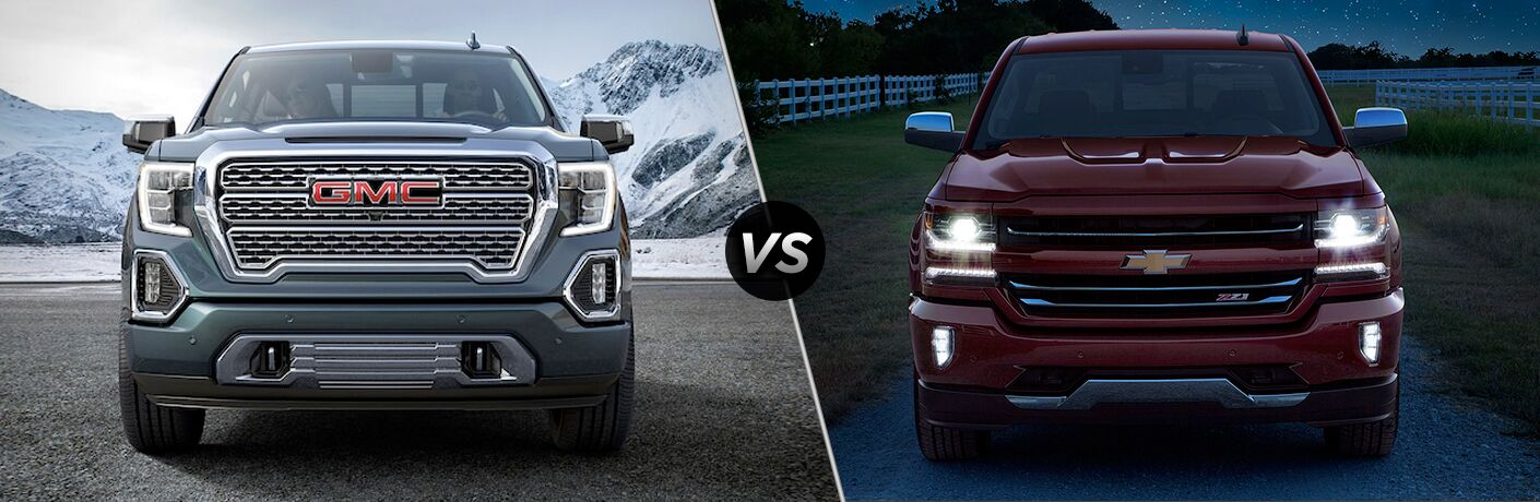 A side-by-side comparison of the 2019 GMC Sierra vs. 2019 Chevy Silverado.
