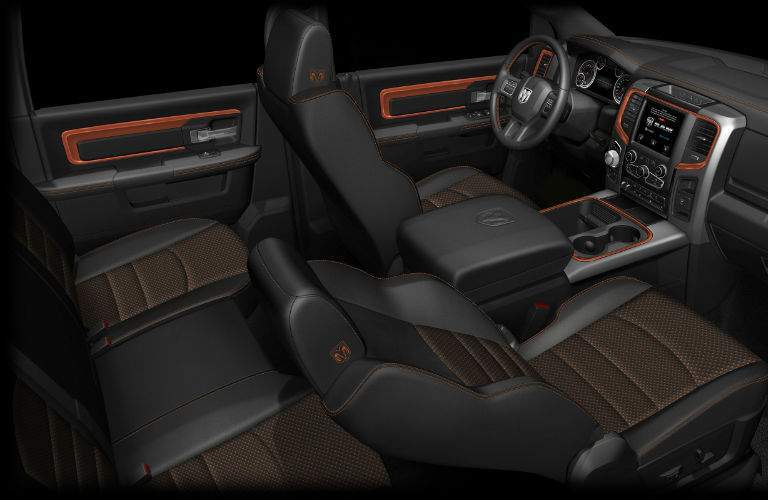 The interior of the 2017 Big Horn is one of the most refined in the industry