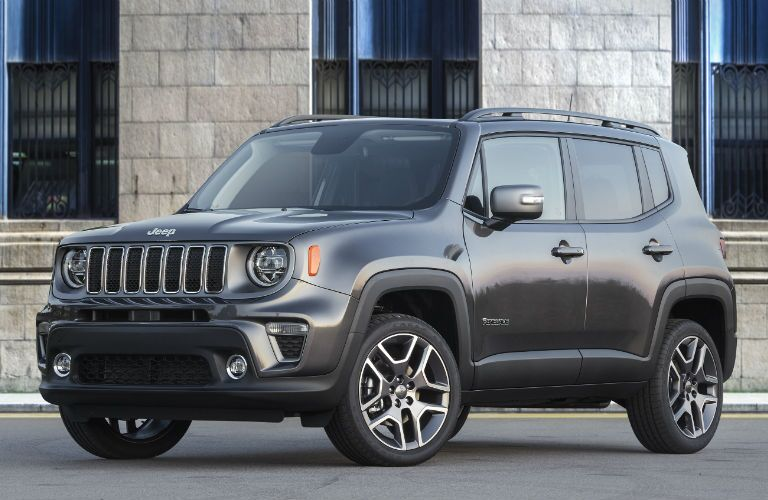 A front left quarter photo of the 2019 Jeep Renegade.