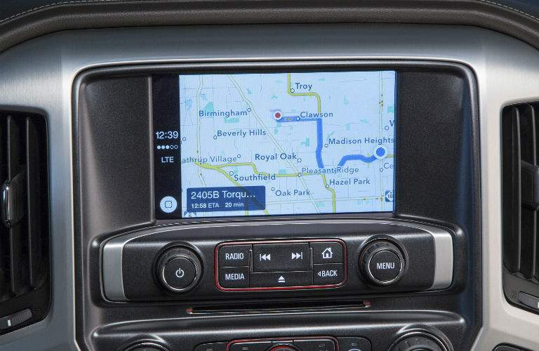 Owners of the 2017 Sierra half ton will have access to several GPS navigation options