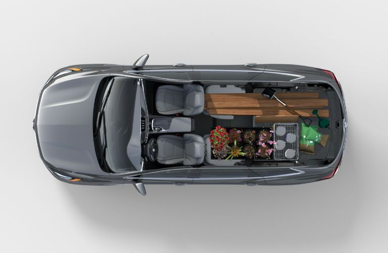 An overhead photo of how much cargo can fit in the 2019 Enclave.