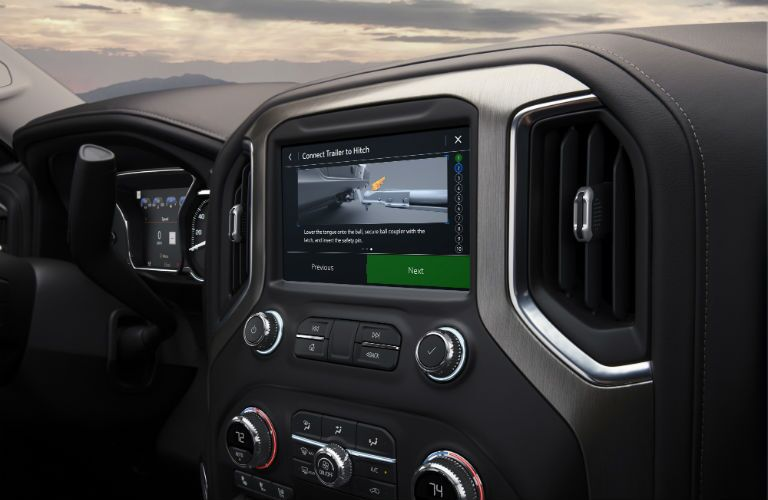 A photo of one of the touchscreens in the 2019 GMC Sierra.