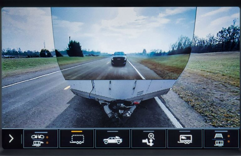 A photo showing the virtual through trailer view available with the 2020 GMC Sierra 2500HD.