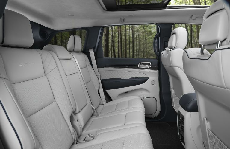 A photo of the rear seats in the 2019 Jeep Grand Cherokee.