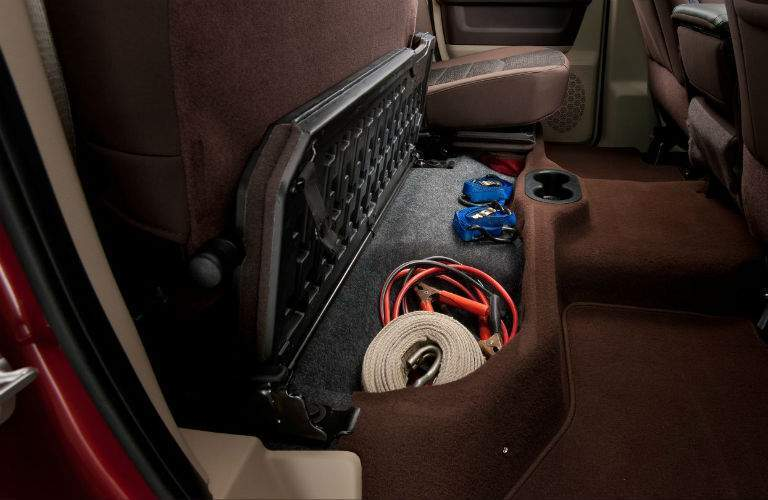 Several storage solutions are located throughout the cabin of the 2017 Ram 2500