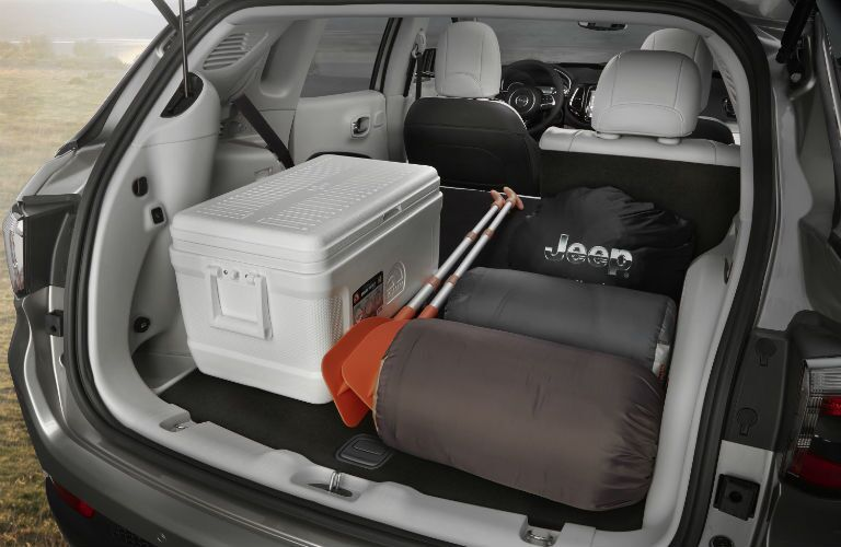 A photo of the maximum cargo configuration in the 2019 Jeep Compass.
