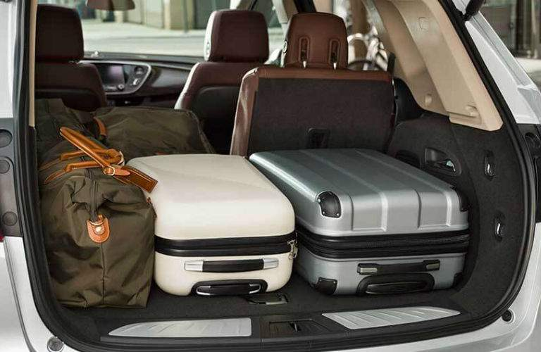 An interior photo showing how adaptable the cargo area is in the back of the 2018 Envision