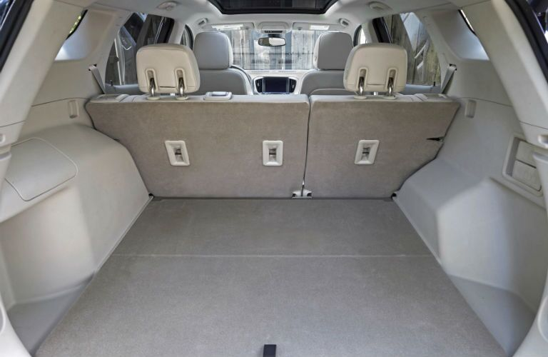 A look at the cargo space behind the back seat of the 2018 GMC Terrain.