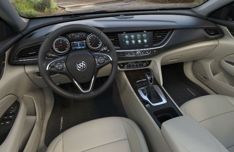 Interior of 2018 Regal Sportback focuses on driver's needs