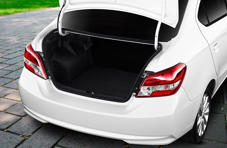 2017 Mitsubishi Mirage G4 trunk space