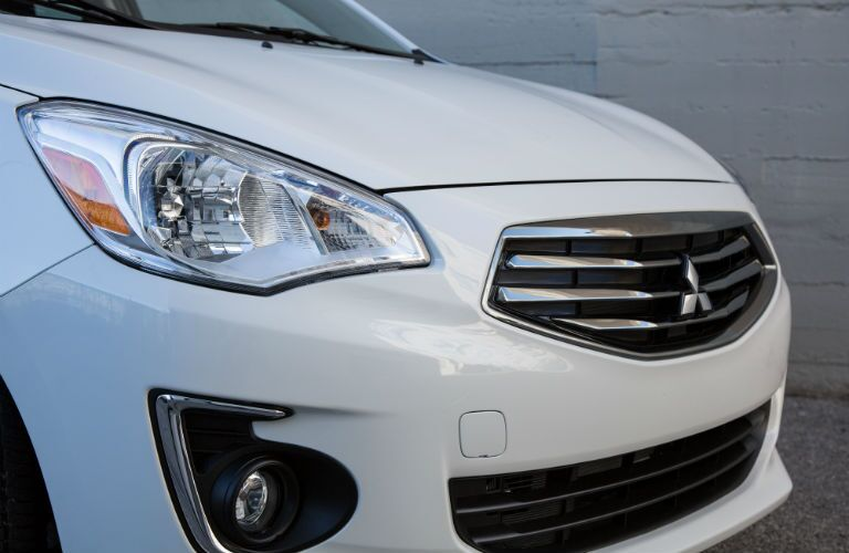 2018 Mitsubishi Mirage G4 grille and front fascia close-up