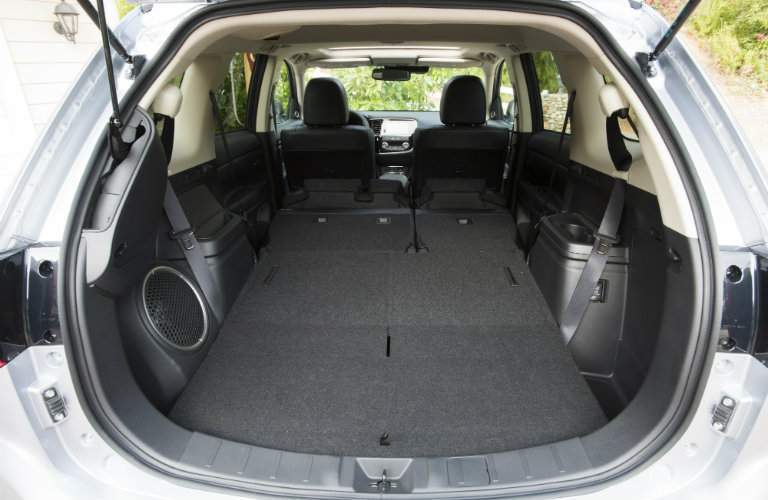 Seats folded down in the 2017 Mitsubishi Outlander