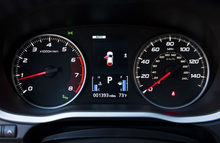 RPM and MPH gauges of the 2018 Mitsubishi Eclipse Cross