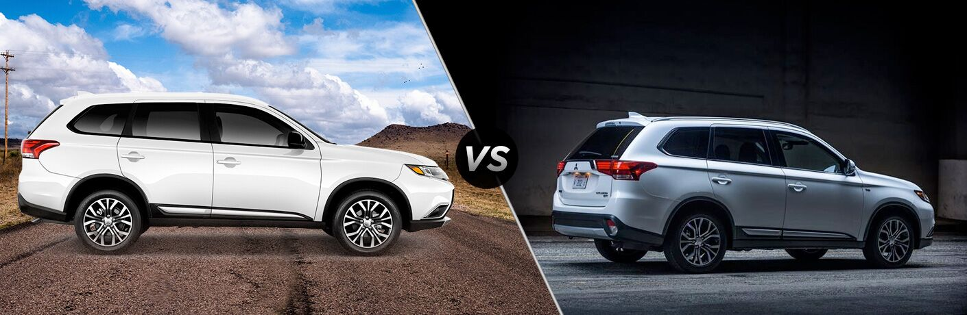 2018 Mitsubishi Outlander ES 2.4 exterior passenger side profile vs GT 3.0 exterior passenger side profile