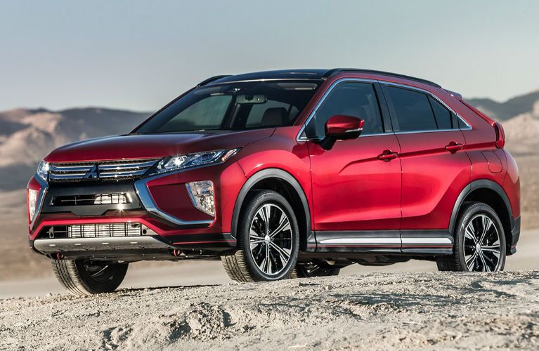 2018 Mitsubishi Eclipse Cross parked on dirt