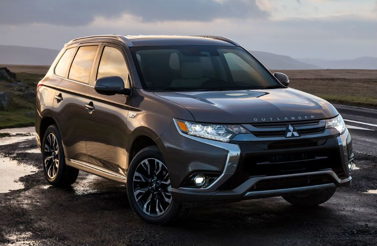 2018 Mitsubishi Outlander PHEV parked in mud