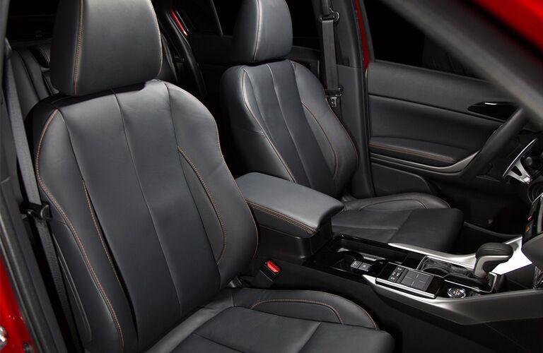 front interior of 2019 mitsubishi eclipse cross including seats and center console