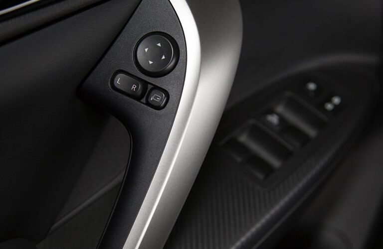 interior door handle and controls of 2019 mitsubishi eclipse cross