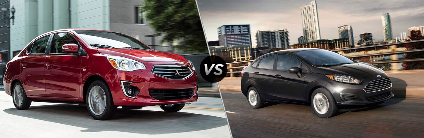 2019 mitsubishi mirage g4 vs 2019 ford fiesta