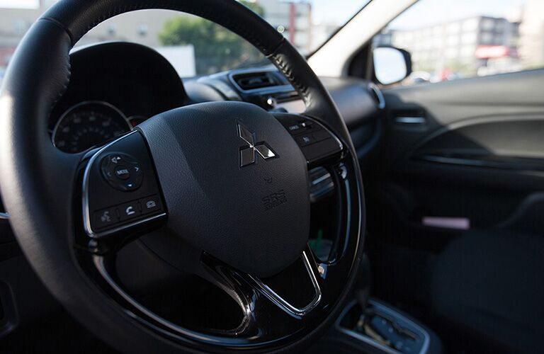 steering wheel of 2019 mitsubishi mirage g4