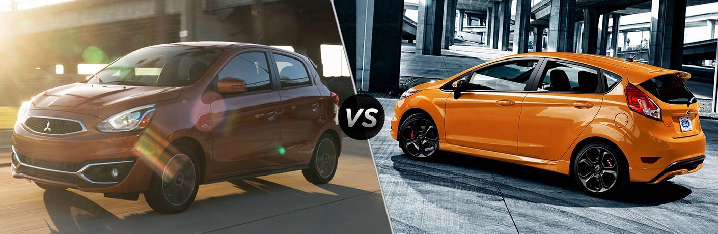 2019 mitsubishi mirage vs 2019 ford fiesta hatchback