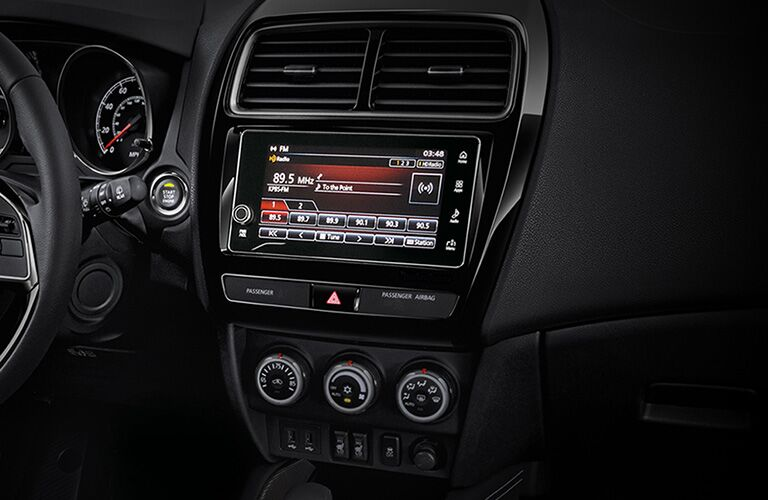 infotainment system of 2019 mitsubishi outlander sport