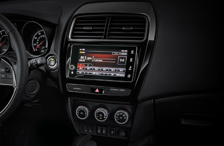 Center touchscreen of 2019 Mitsubishi Outlander Sport