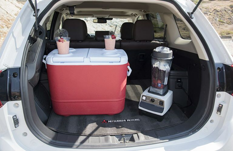2018 Mitsubishi Outlander PHEV with cooler and smoother maker in the cargo area