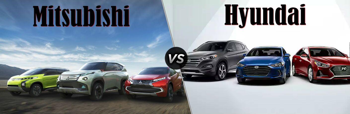 Mitsubishi vs Hyundai brand comparisons