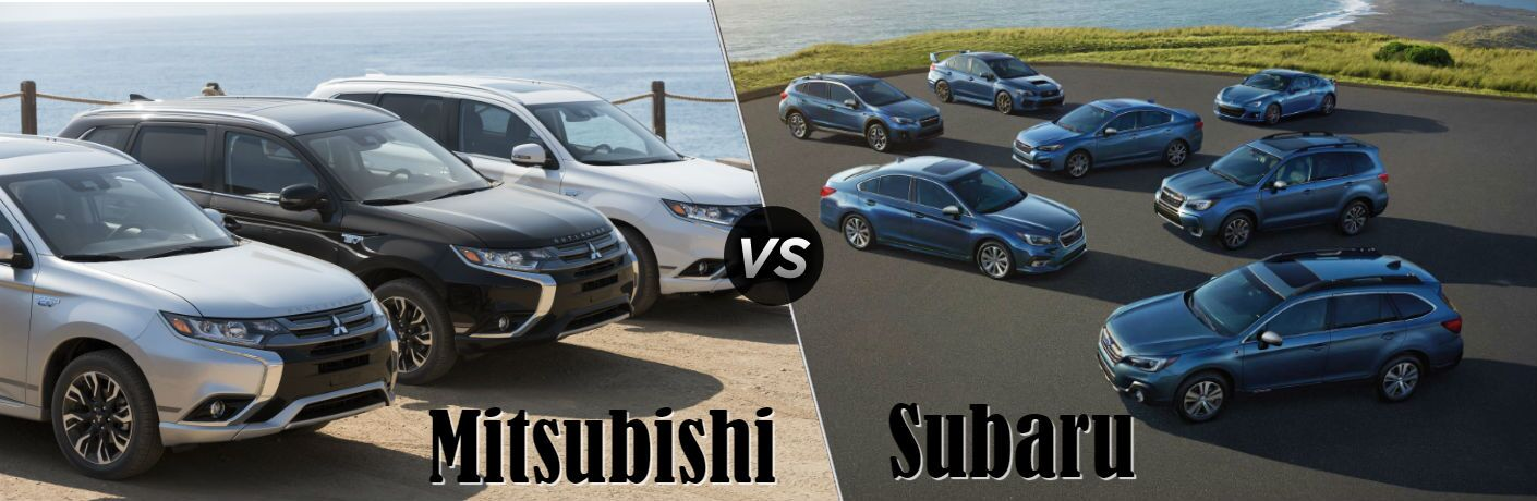 Mitsubishi vs Subaru brand comparisons