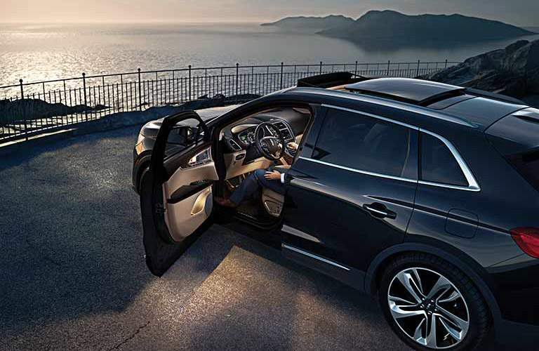 2017 Lincoln MKX Black Exterior Side View Driver Side Door Open
