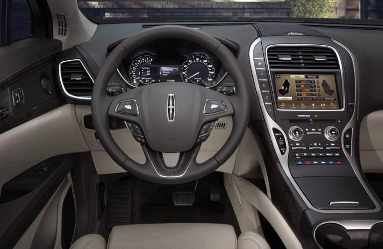 2017 Lincoln Mkx Black Interior Front Cabin Driver View