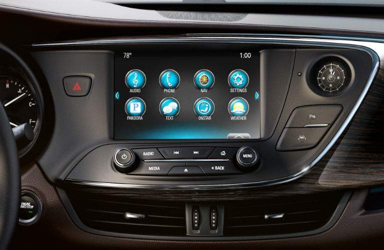 Infotainment screen of 2018 Buick Envision