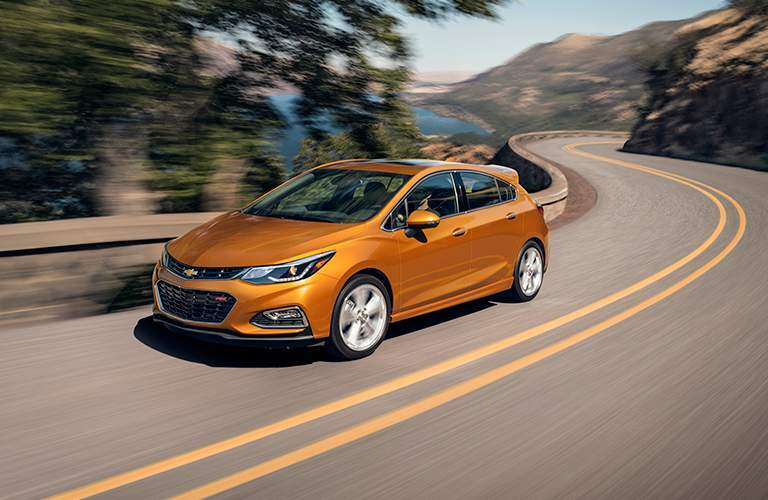 2018 Chevy Cruze hatchback on winding road