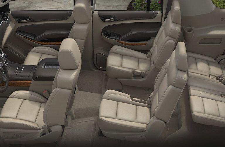 7 seats inside the 2018 Chevrolet Suburban