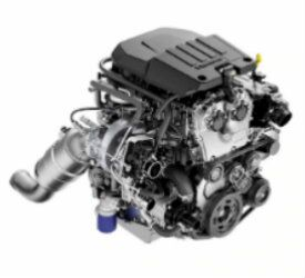 View of the 2.7L Turbo Engine of a 2019 Chevrolet Silverado 1500