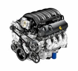 View of the 6.2L V8 Engine of a 2019 Chevrolet Silverado 1500