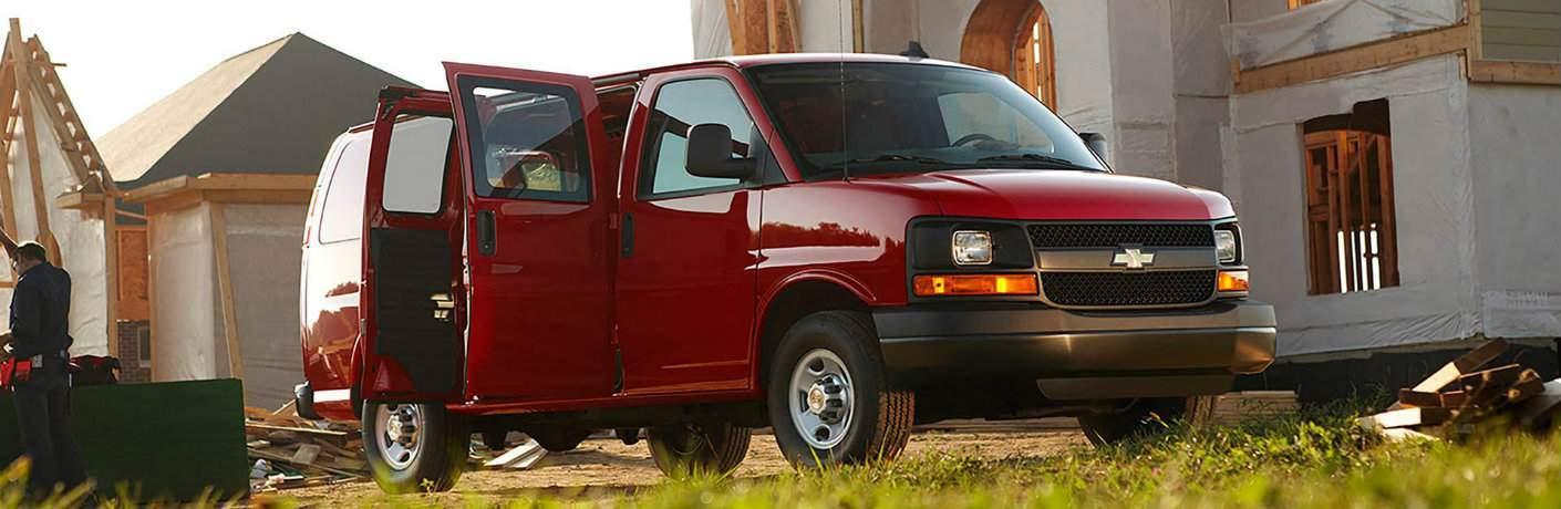 Chevy Express Van with doors open
