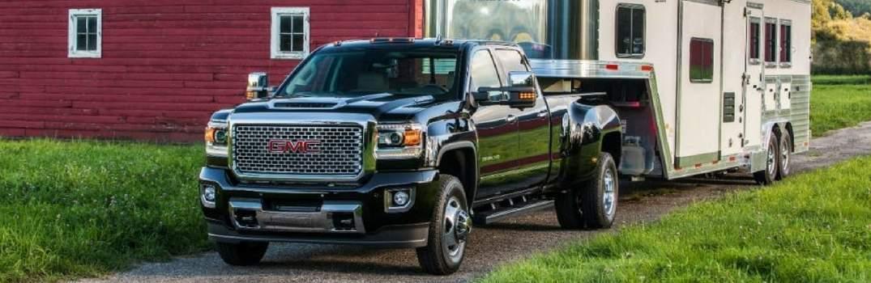 2017 GMC Sierra towing a trailer