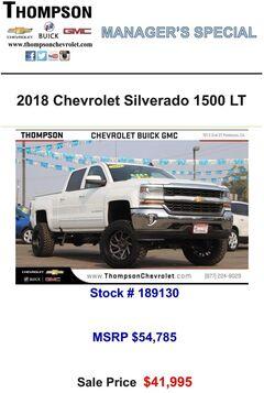 2018 Chevrolet Silverado 1500 LT White