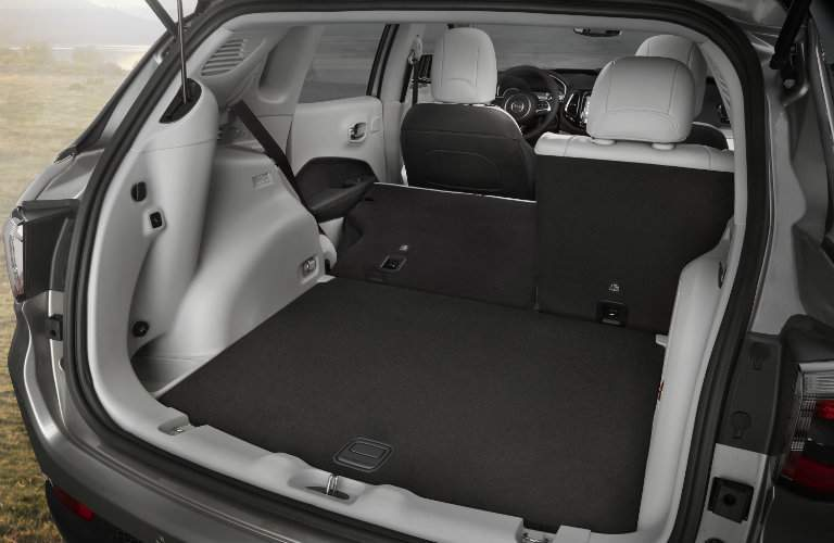 Cargo area of 2017 Jeep Compass